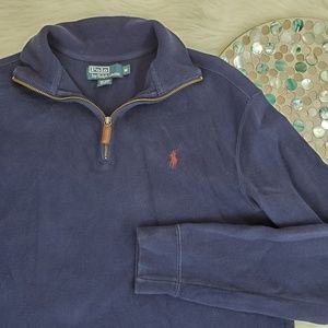 Polo by Ralph Lauren Pullover Sweater 1/4 Zip Mock